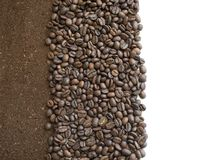 Ground coffee for background or postcard top view royalty free stock images