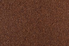Ground coffee bean background. Ground roasted coffee bean background royalty free stock image