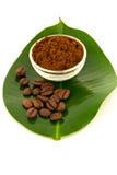 Ground coffee & beans Royalty Free Stock Photo