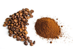 Ground Coffee Beans Stock Photos