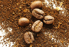 Ground coffee beans Stock Image