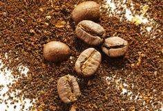 Ground coffee beans Stock Image