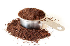 Ground Coffee In Measuring Cup Stock Photography