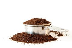 Ground Coffee In Measuring Cup Royalty Free Stock Photo