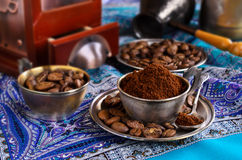 Ground coffee Royalty Free Stock Images