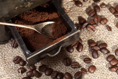 Ground coffee. Royalty Free Stock Photos