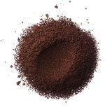 Ground coffee pile isolated on white background overhead view Royalty Free Stock Photography