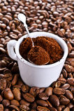 Ground coffee Stock Image