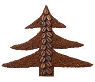 Ground coffee in the shape of Christmas tree Royalty Free Stock Images