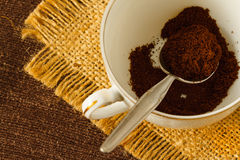 Ground coffee Stock Image