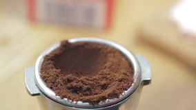 Ground Coffee stock video footage