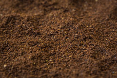 Ground coffee texture Royalty Free Stock Images