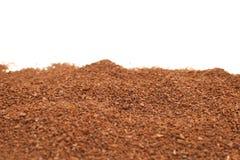 Ground Coffee on white Stock Photo