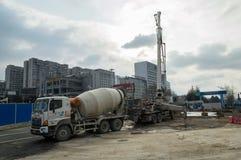 Ground construction site Stock Photo