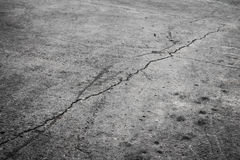 Ground cracking concrete Stock Photography