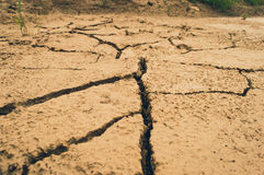 Ground cracks Stock Images