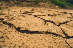 Ground cracks Royalty Free Stock Image