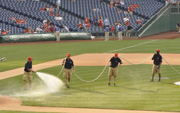 Ground crew at Citizen's Bank Park royalty free stock photo