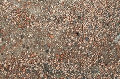 Ground detailed texture, bround background. Arable land. Village raod surface, brown background fon, stones detailed texture. Hiqh resolution and quality Royalty Free Stock Photo