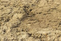 Ground dirt soil soil sand clay alumina texture background close-up. Clay soil around the construction site royalty free stock photos