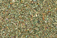 Ground dried Basil (Sweet Basil) background. Royalty Free Stock Photo
