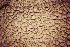 Ground in drought, soil texture and dry mud Royalty Free Stock Photos