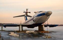 Ground-effect van Orlyonok vliegtuig Stock Afbeeldingen
