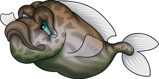 Ground-fish verde y marrón Imágenes de archivo libres de regalías