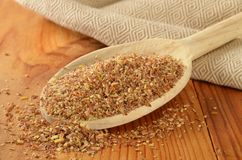 Ground flax seed Royalty Free Stock Photos