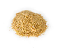 Ground flaxseed powder in a pile Stock Photos