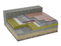 Ground Floor Insulation Royalty Free Stock Photography