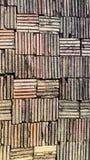Ground floor made of clay bricks Stock Photos