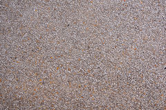 Ground floor made of small sand pebbles Royalty Free Stock Photography