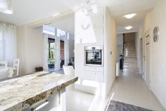 Ground floor in modern house. Open space on the ground floor in modern house Royalty Free Stock Photography