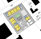 Ground floor plan of the living house Stock Images