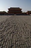 Ground in Forbidden City. Ground and house in Forbidden city, Beijing, China royalty free stock image