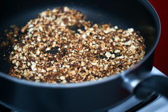 Ground fried nuts Royalty Free Stock Photo