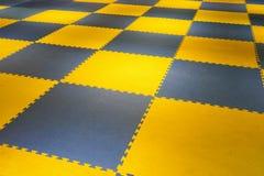Ground futsal. futsal plastic court flooring tiles texture floor stock photo