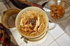 Ground garlic Stock Photo