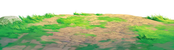 Ground grass. Meadow background painting royalty free illustration