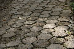 Ground with gray and symmetrical stones royalty free stock photos