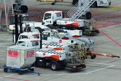 Ground handling equipment at Changi Airport Royalty Free Stock Photography
