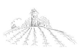 Ground handling in retro farm Stock Image