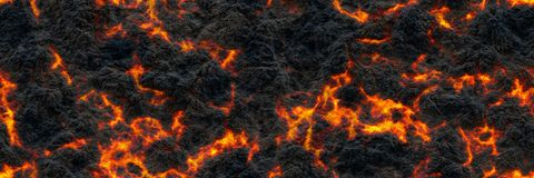 Burned charcoal- glowing surface of the coals. Abstract nature p royalty free stock photography