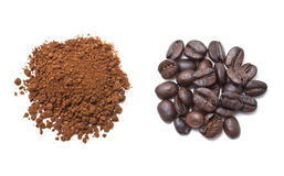 Ground And Instant Coffee. Stock Photography