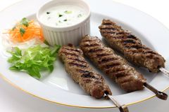 Ground Lamb Kebab Stock Image