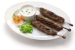 Ground lamb kebab Royalty Free Stock Photo