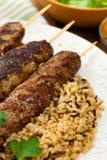 Ground Lamb Kebabs Royalty Free Stock Images