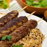 Ground Lamb Kebabs Stock Images