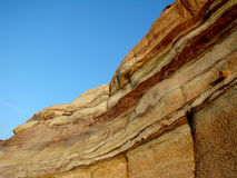 Ground layers. Colorful ground layers of cliff Stock Image